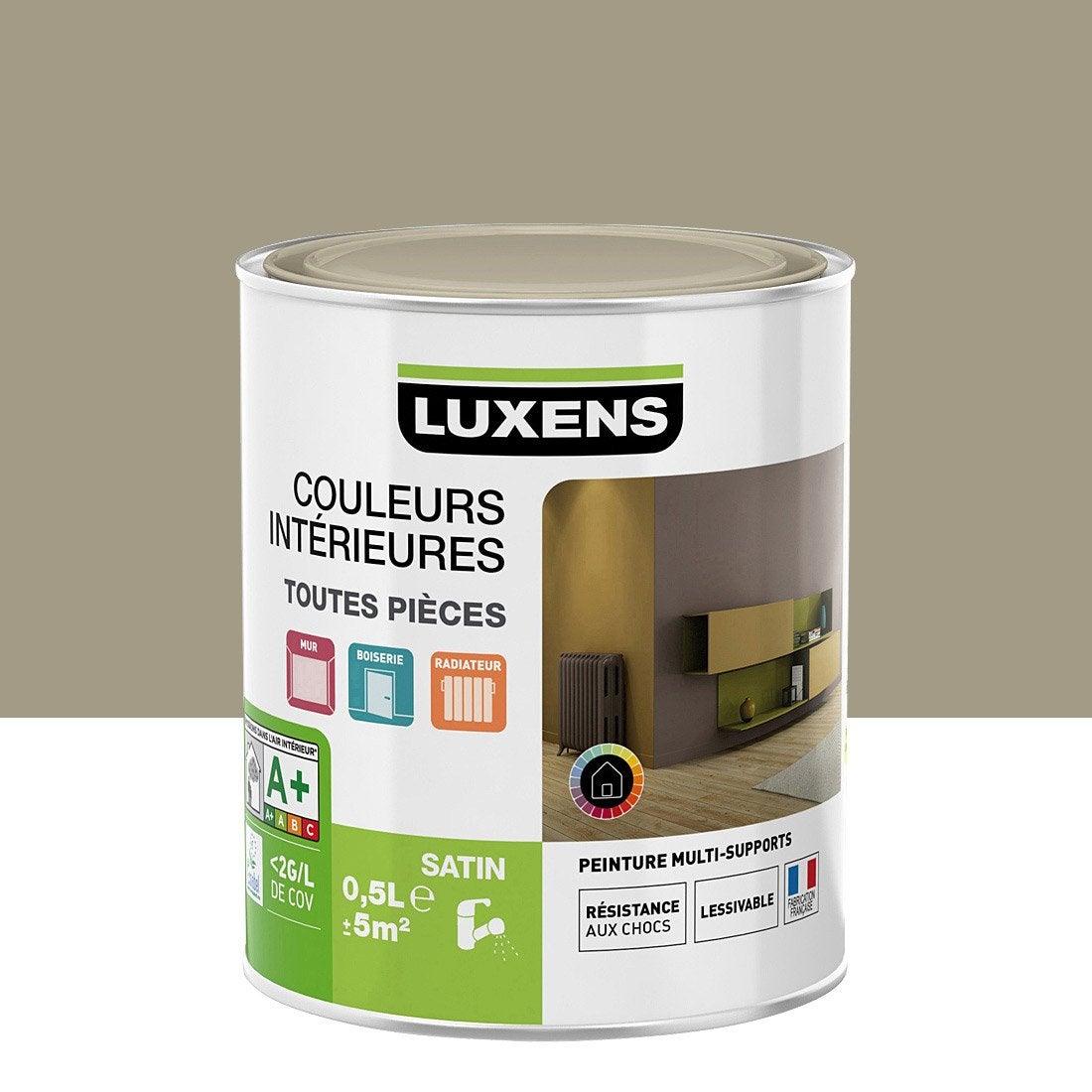 Peinture Gris Doré 5 Satin LUXENS Couleurs Intérieures Satin 0.5 L