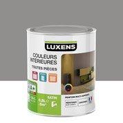 Peinture gris galet 3 LUXENS Couleurs intérieures satin 0.5 l