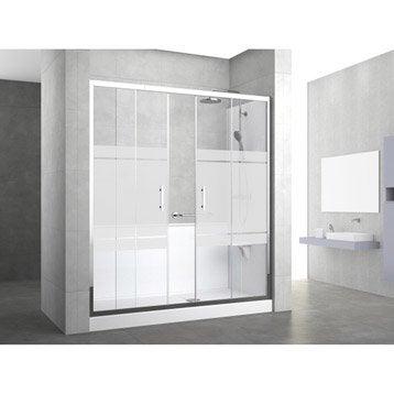 Kit de remplacement baignoire par douche elyt evolution - Parois de douche a l italienne ...