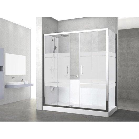 Kit de remplacement baignoire par douche entre 2 murs 160 x 80 cm elyt evolut - Remplacement baignoire par douche ...
