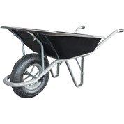 Brouette roue gonflée acier peint noir Solid ALTRAD, 100 l / 200 kg