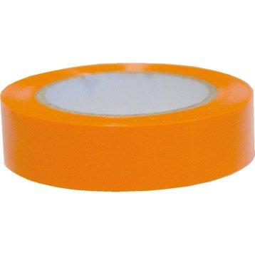 Ruban adhésif orange, L.10 m x l.19 mm, VOLTMAN