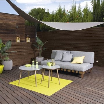 voile d 39 ombrage toile tendue terrasse jardin leroy merlin. Black Bedroom Furniture Sets. Home Design Ideas