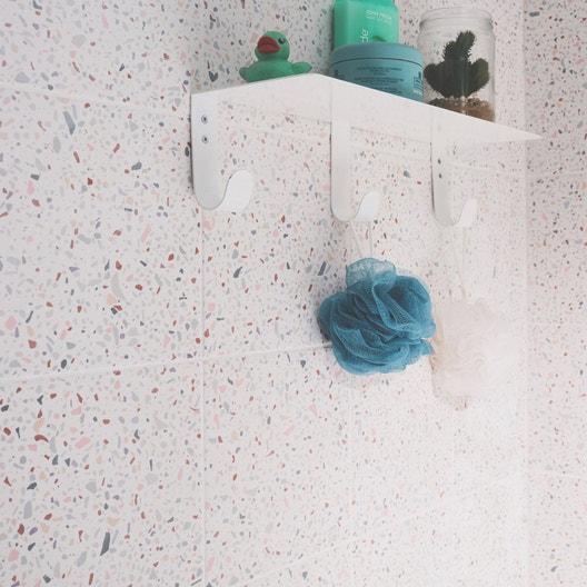 carrelage sol et mur rose terrazzo x cm leroy. Black Bedroom Furniture Sets. Home Design Ideas