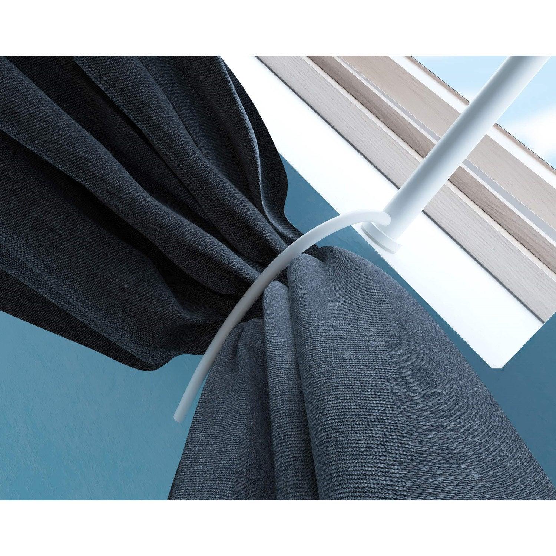 Tringle Pour Fenetre De Toit embrasse tringle à rideau ib+ 25 mm acier blanc ib+