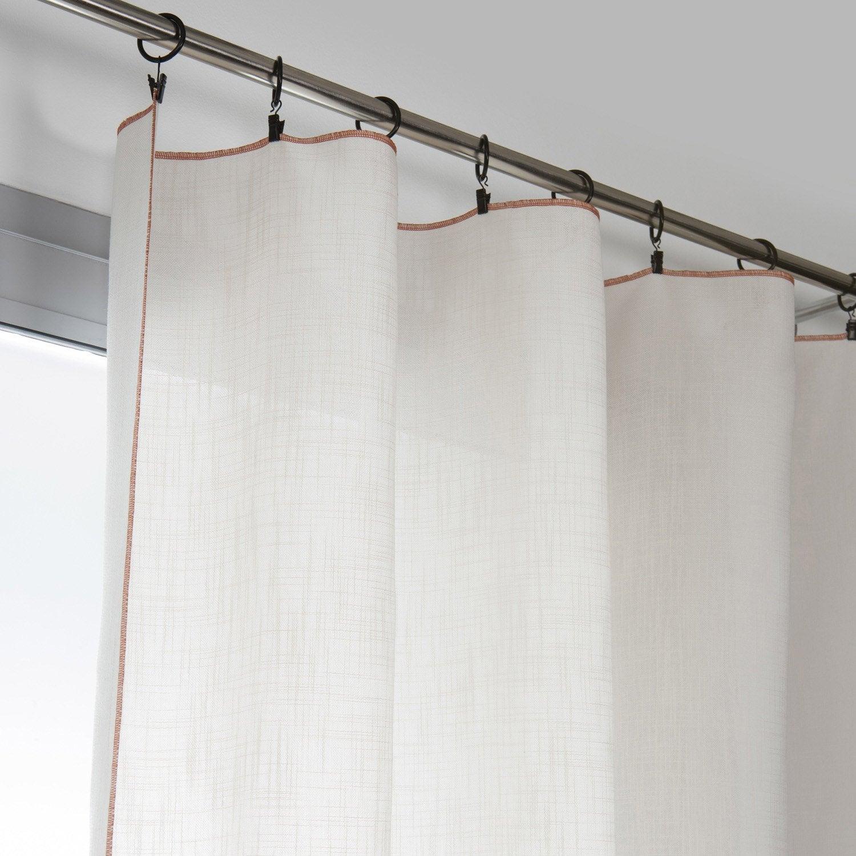 Rideau tamisant, Camelia, écru, l.140 x H.250 cm