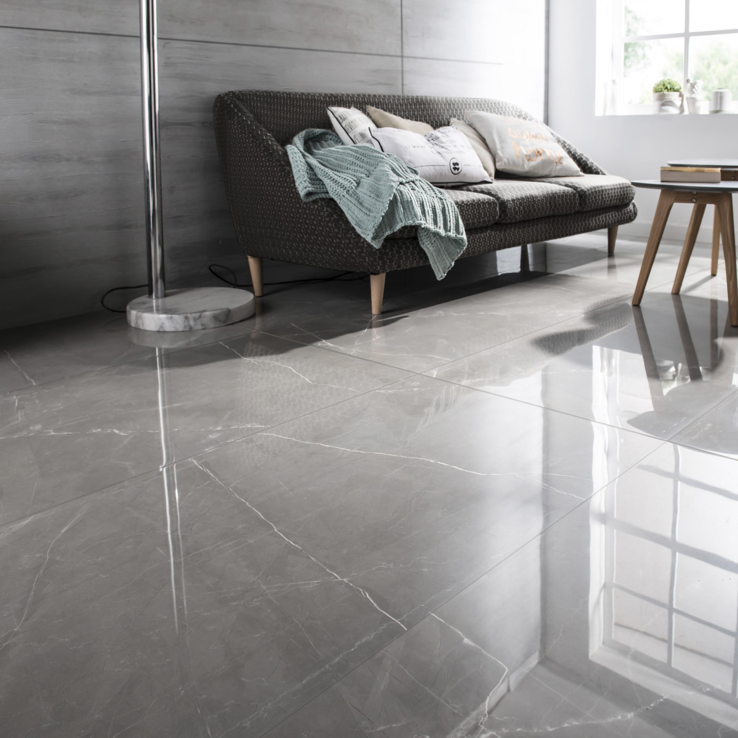 Carrelage sol et mur intenso marbre gris Rimini l.60xL.120cm CERIM INSPIRED+39