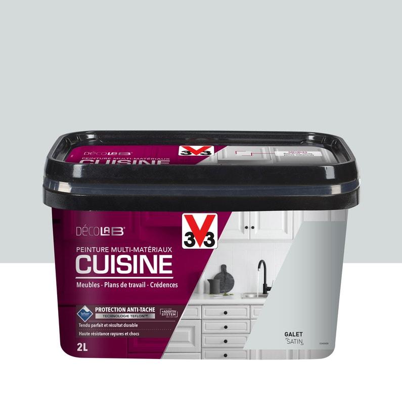 Peinture Cuisine Toute Surface Cuisine Meubles Crédences V33 Galet Satin 2 L