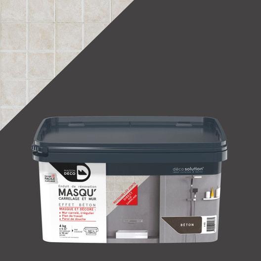 Enduit Masqu'carrelage et mur MAISON DECO, béton, 4 kg | Leroy Merlin