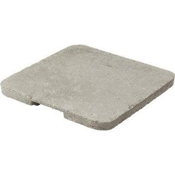 Couvercle béton gris LEGOUEZ, L.36 x l.36 cm