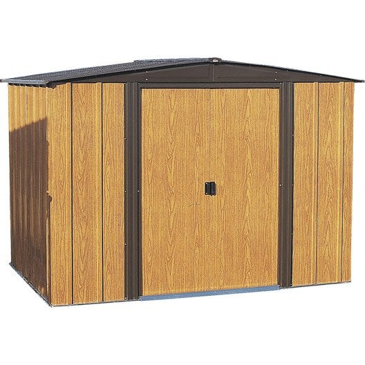 Abri m tal woodlake 86 m ep mm leroy merlin - Montage abri de jardin metal ...