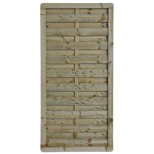 Panneau bois occultant Luxe, l.90 cm x h.180 cm, naturel | Leroy