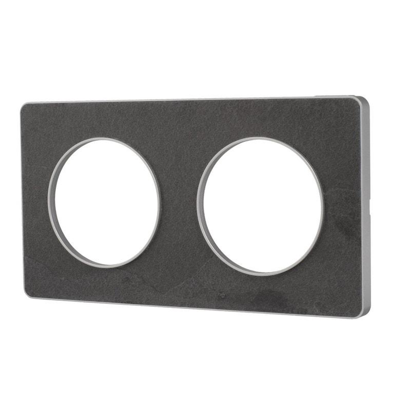 Plaque Schneider Odace : plaque double odace schneider electric ardoise leroy merlin ~ Dallasstarsshop.com Idées de Décoration