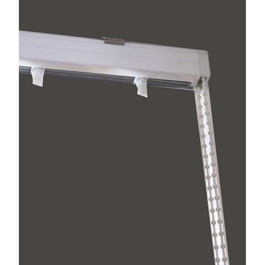 rail lamelles verticales orientables blanc 240 cm leroy merlin. Black Bedroom Furniture Sets. Home Design Ideas