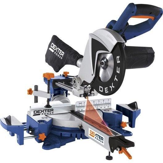 Scie onglet radiale dexter power 254 mm 2150 w leroy merlin - Scie a bois electrique leroy merlin ...