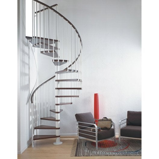 Escalier colima on rond ring structure m tal marche bois for Escalier interieur leroy merlin