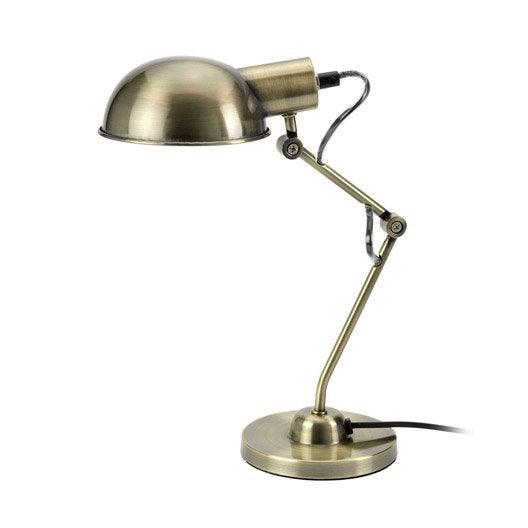Lampe de bureau à poser doré Tea