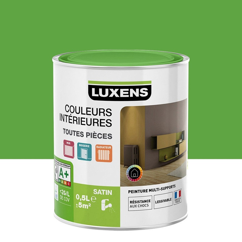 Peinture Vert Vert 4 Satin Luxens Couleurs Intérieures Satin 05 L