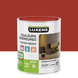Peinture rouge gourmand 3 LUXENS Couleurs intérieures satin 0.5 l