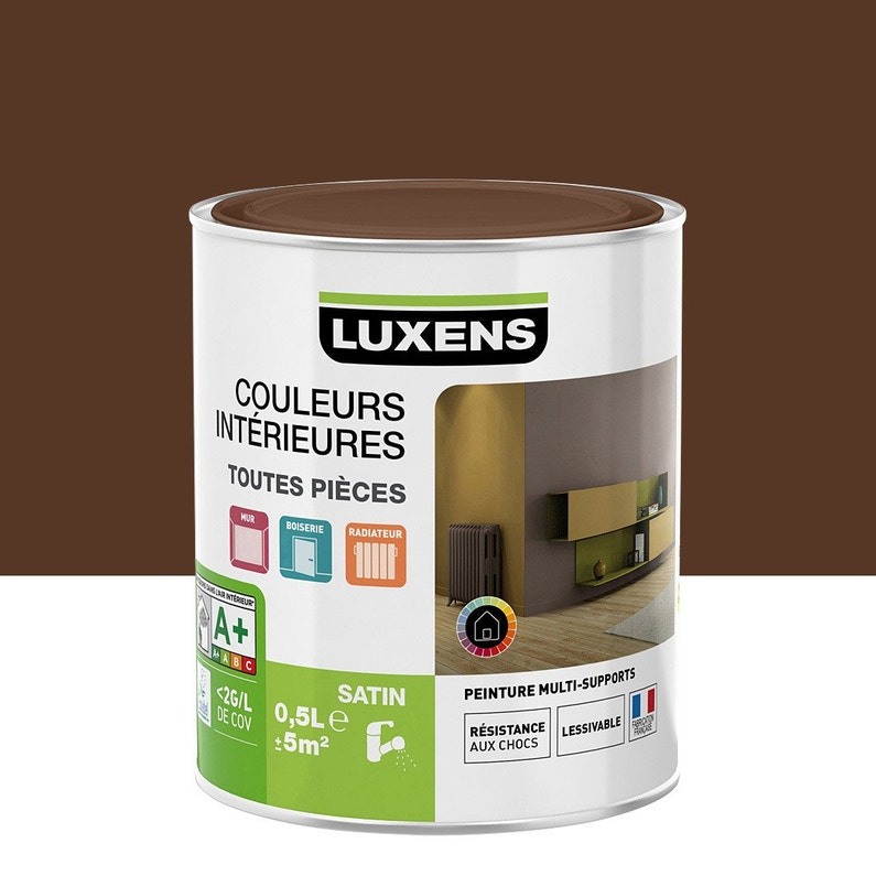 Peinture Brun Chocolat 2 Satin Luxens Couleurs Intérieures Satin 0 5