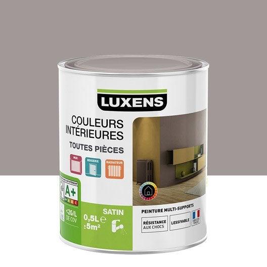 peinture multisupports couleurs int rieures satin luxens gris poivre n 4 0 5 l leroy merlin. Black Bedroom Furniture Sets. Home Design Ideas