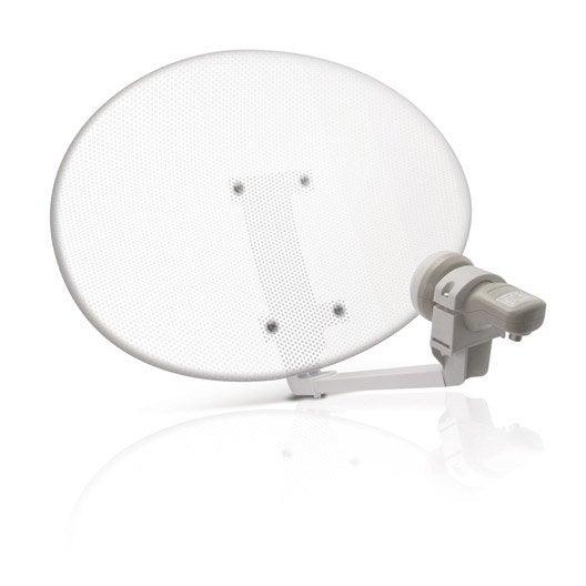 antenne satellite elliptique acier perfor metronic leroy merlin. Black Bedroom Furniture Sets. Home Design Ideas