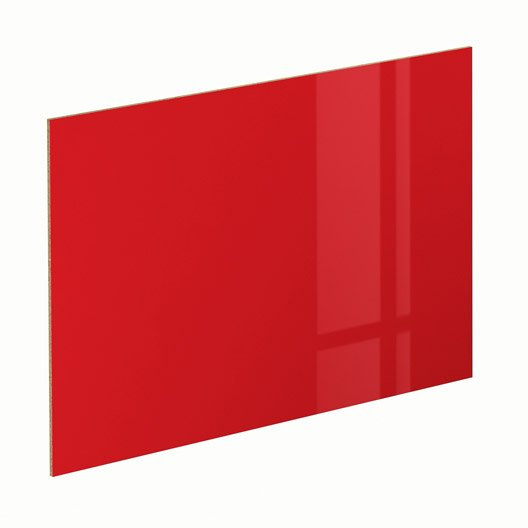 Panneau glossy rouge spaceo x cm leroy merlin - Verre synthetique leroy merlin ...