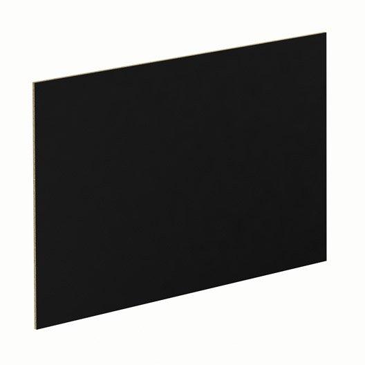 panneau pour porte de placard coulissante spaceo cm noir leroy merlin. Black Bedroom Furniture Sets. Home Design Ideas