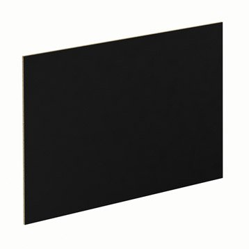 Panneau Glossy noir SPACEO l.96.9 x H.61.4 cm