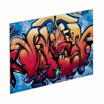 Panneau Glossy graffiti SPACEO l.96.9 x H.61.4 cm