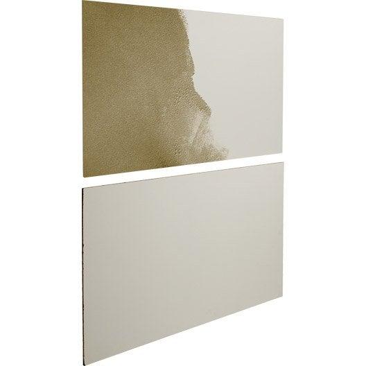 Kit 2 panneaux pour porte de placard coulissante SPACEO, 96.9x61.4 cm, blanc