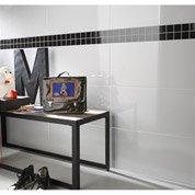 Faïence mur blanc, Basic l.31.6 x L.63.2 cm