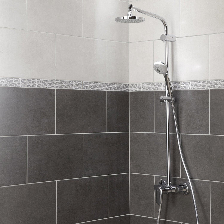 Faience Mur Blanc Smart L 25 X L 40 Cm Leroy Merlin