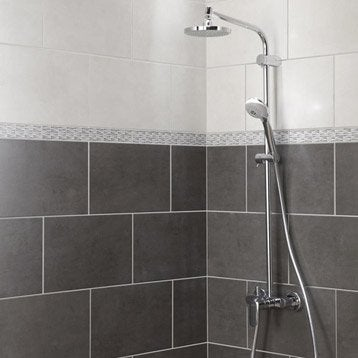 Faïence mur blanc, Smart l.25 x L.40 cm