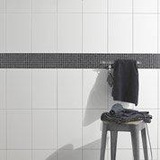 Faïence mur blanc, Basic l.25 x L.40 cm
