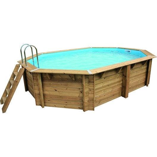 piscine hors sol bois samoa l x l x h 1 2 m leroy merlin. Black Bedroom Furniture Sets. Home Design Ideas