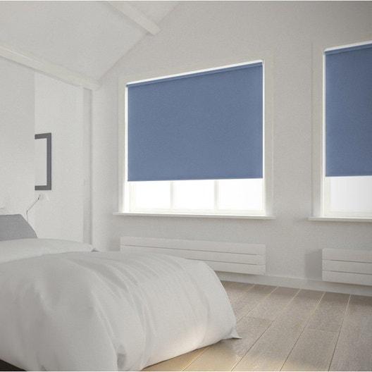 Store enrouleur occultant 5789 INSPIRE, bleu baltique n°1, 55x250 cm