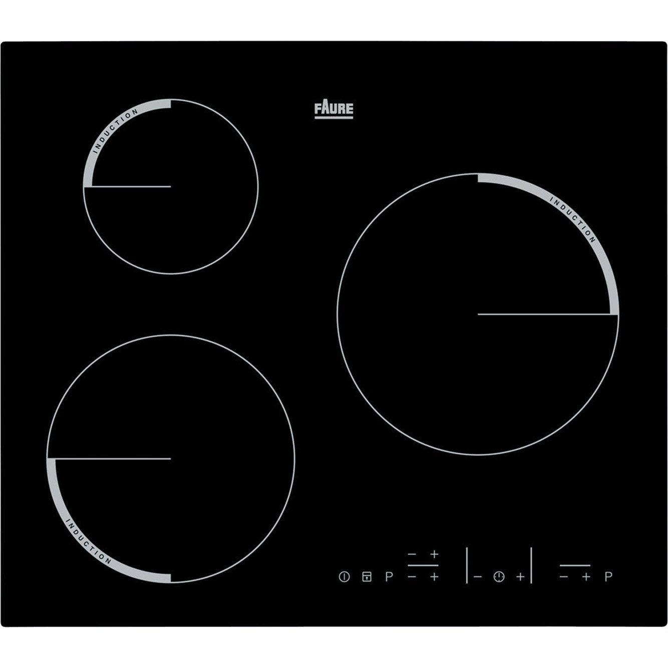 plaque induction 3 foyers noir faure fel6633fba. Black Bedroom Furniture Sets. Home Design Ideas