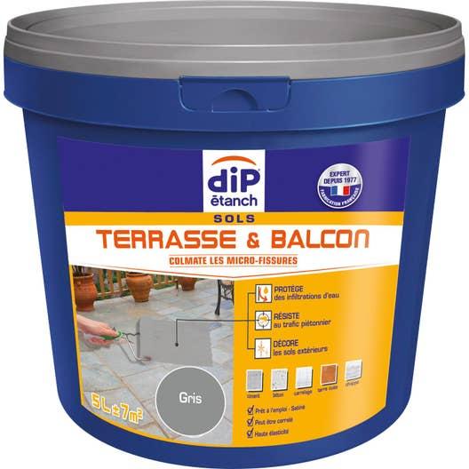 traitement dtanchit sol terrasse balcon dip gris 5 l