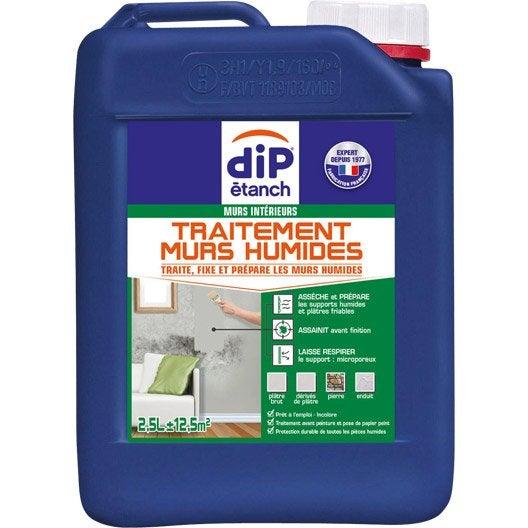 Traitement mur humide dip incolore 2 5 l leroy merlin - Produit anti moisissure mur ...