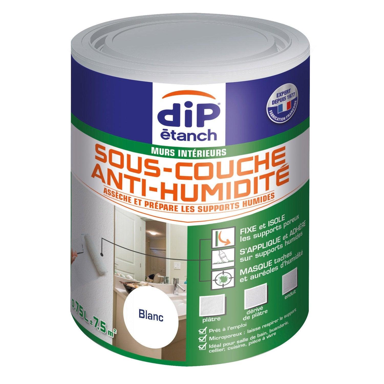 Sous Couche Antihumidité, DIP Blanc 0.75 L