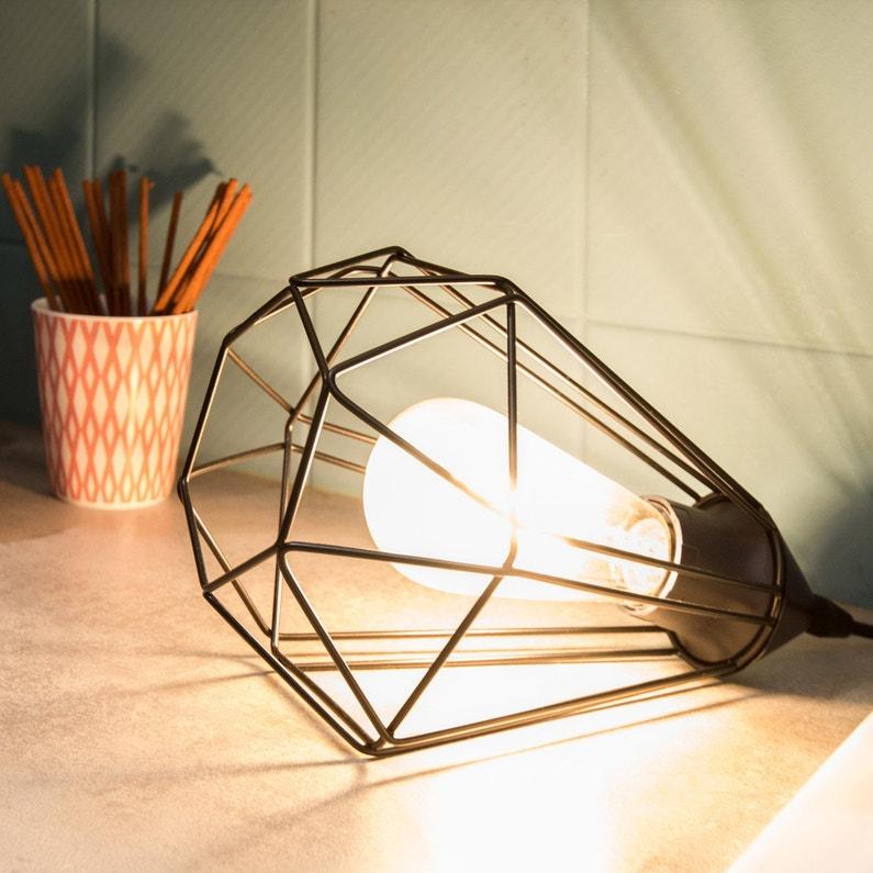 Lampe E27 Tarbes Eglo Métal Noir 60 W