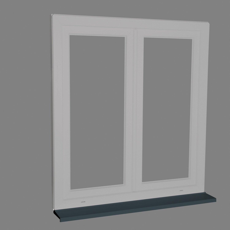 Peindre Fenetre Pvc En Gris pièce d'appui pvc gris pour fenêtre et porte fenêtre, long. 1,25m