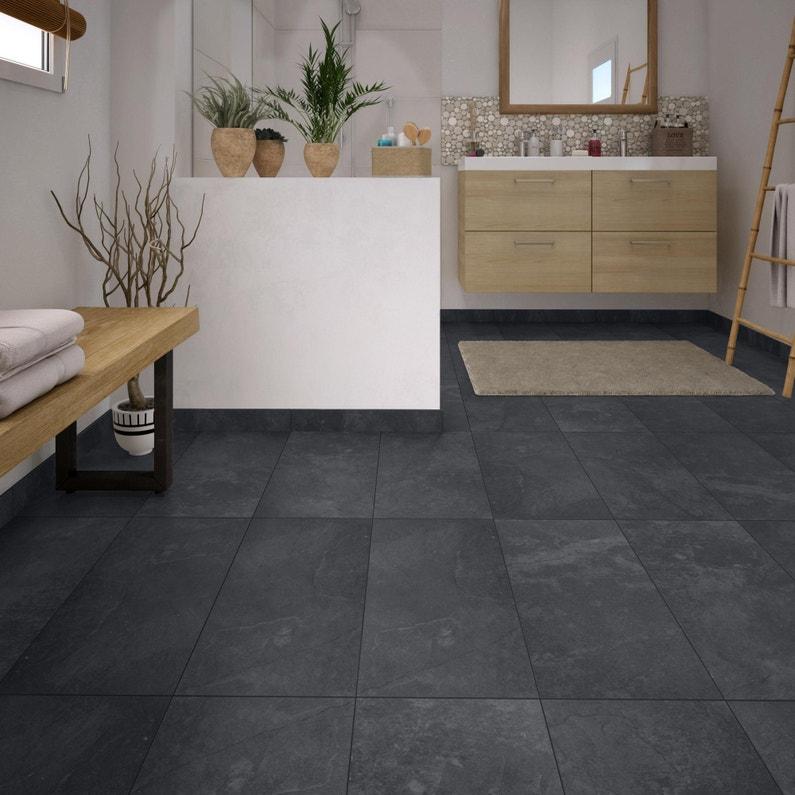 Carrelage sol et mur intenso pierre noir Sicile l.30 x L.60 cm GRAND DESIR  - SUP