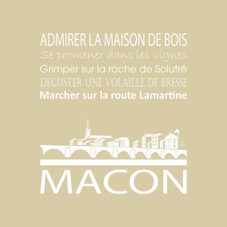 Toile Imprimée Macon Beige Artis L30 X H30 Cm