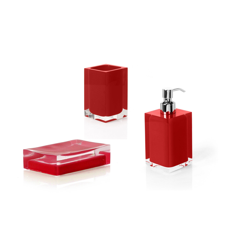 Accessoire de salle de bains r sine rainbow rouge leroy - Leroy merlin salle de bain accessoires ...
