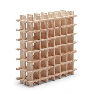 Casier 36 emplacements bois brut