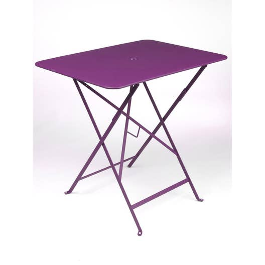 table de jardin fermob bistro rectangulaire aubergine 2. Black Bedroom Furniture Sets. Home Design Ideas