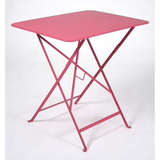 Table de jardin fermob bistro rectangulaire fuschia 2 - Table de jardin 2 personnes ...