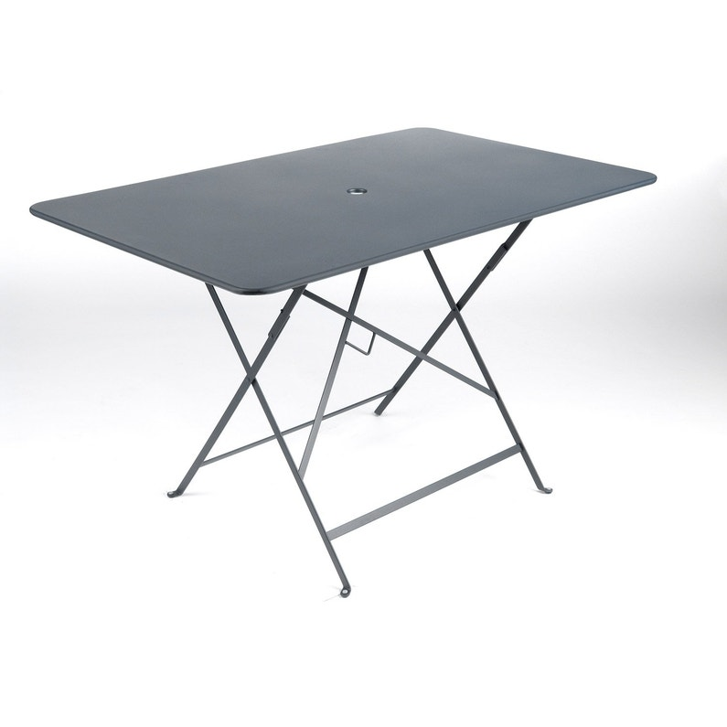 Table de jardin de repas FERMOB Bistro rectangulaire gris orage 6 ...